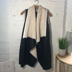 Miss Jane for free people faux fur/leather vest